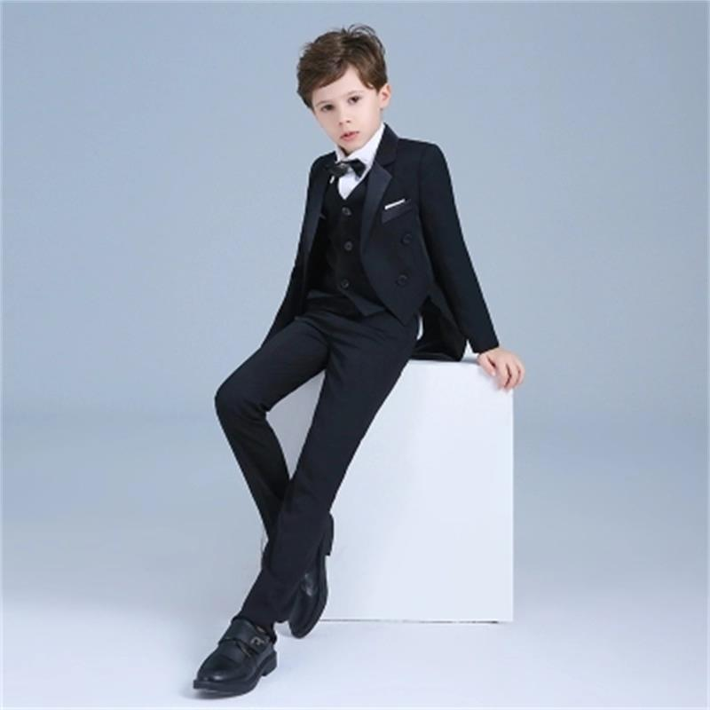 alta qualidade criancas meninos smoking vestido terno 01