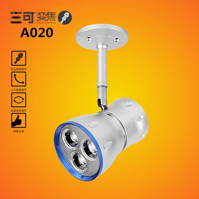A020 Waterdrop LED holofotes foco para galeria de arte iluminação sala de exposição CREE LED de superfície holofotes de alta qualidade