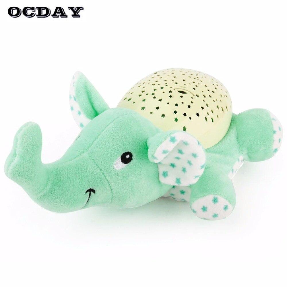 Ocday Творческий Звезда Лампа проектор Игрушечные лошадки кукла с музыкой светодиодный ночник световой черепаха слон плюшевые Игрушечные ло…