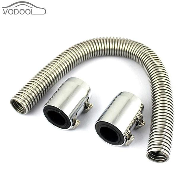 Universal Car Upper/ Lower Radiator Hose Kit Flexible Stainless Steel Cooling Tube with 2 Chrome  sc 1 st  AliExpress.com & Universal Car Upper/ Lower Radiator Hose Kit Flexible Stainless ...