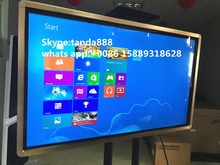 USENDA 42″wall mount PC inbuilt all in one touch lcd advertising display with GOLD and Silver color