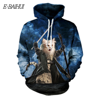 E BAIHUI Brand 2018 New Fashion 3D Print Hooded Sweatshirts Men Women Hoodies With Hat Tracksuits