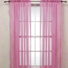 Modern Style Tulle Window Screening Blinds Sheer Voile Gauze Curtain Balcony Home Decor Sheers Curtains for Living Room
