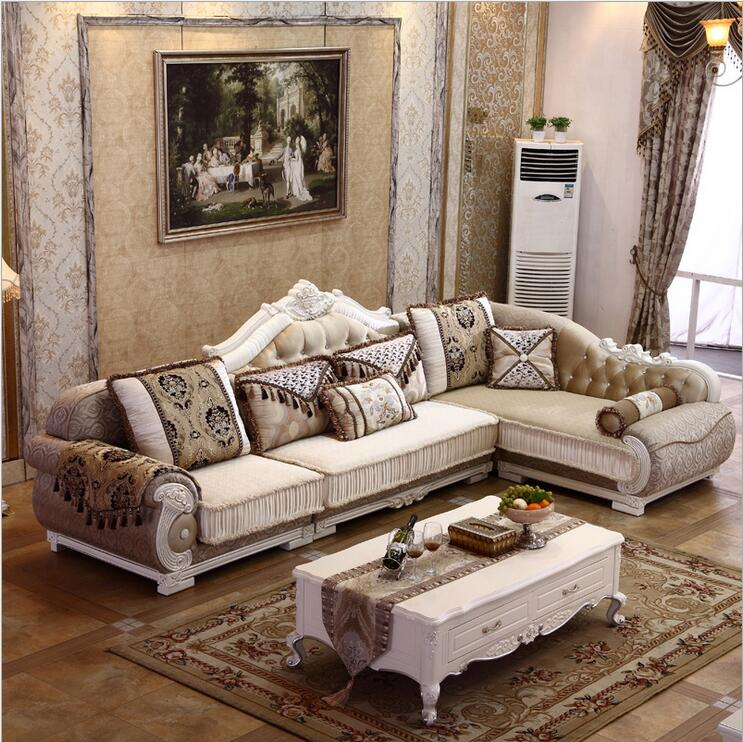 US $1120.0 |living room furniture modern fabric sofa European sectional  sofa set 1069-in Living Room Sofas from Furniture on AliExpress -  11.11_Double ...