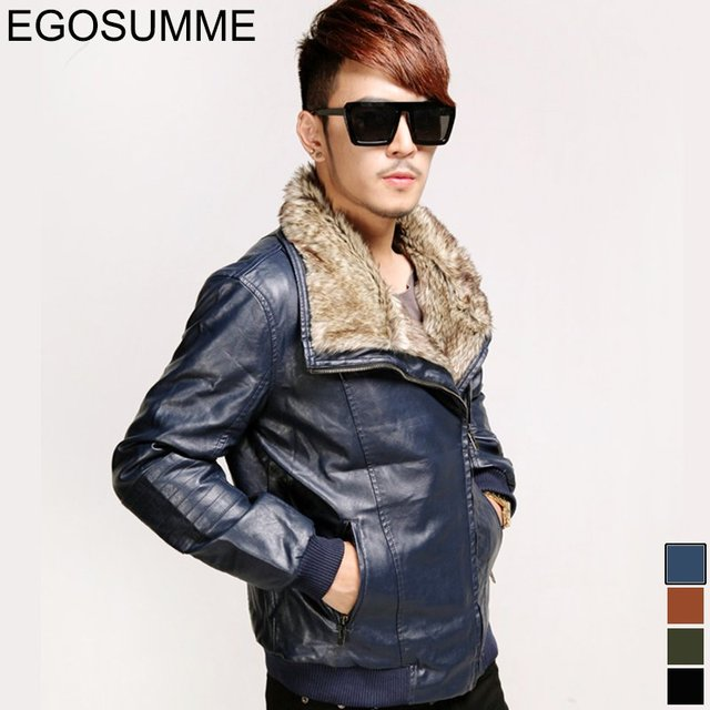 Big hair collar man washed leather man's winter jacket new locomotives leather jacket and cotton goods wholesale for 2013 FLM068