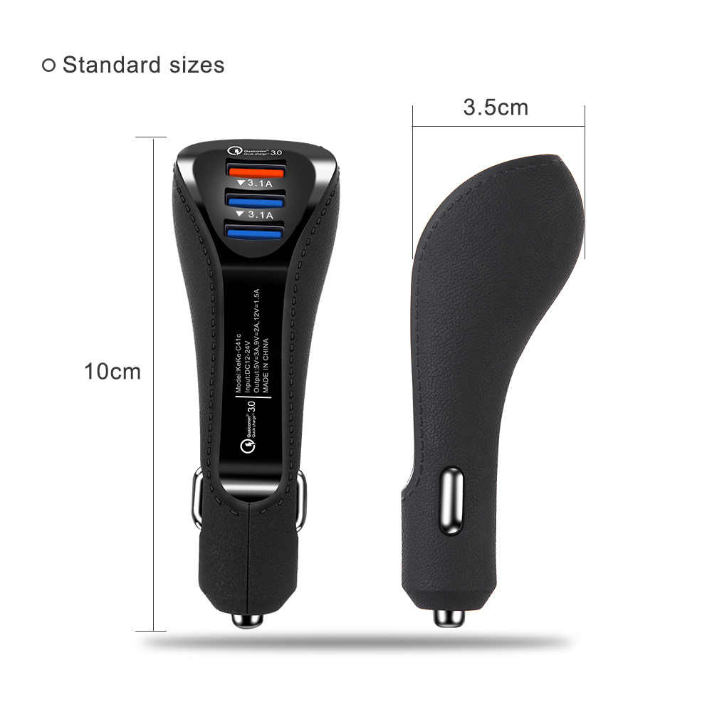 3.1A USB شاحن سيارة سريعة تهمة 3.0 الهاتف المحمول شاحن 3 ميناء شاحن سيارة شاحن آيفون Xiaomi هواوي سيارة-شاحن سريع