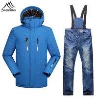 2016 Ski Suit Men Sports Jacket Pants Snowboarding Sets For Male Suit Snowboard For Men Thicken