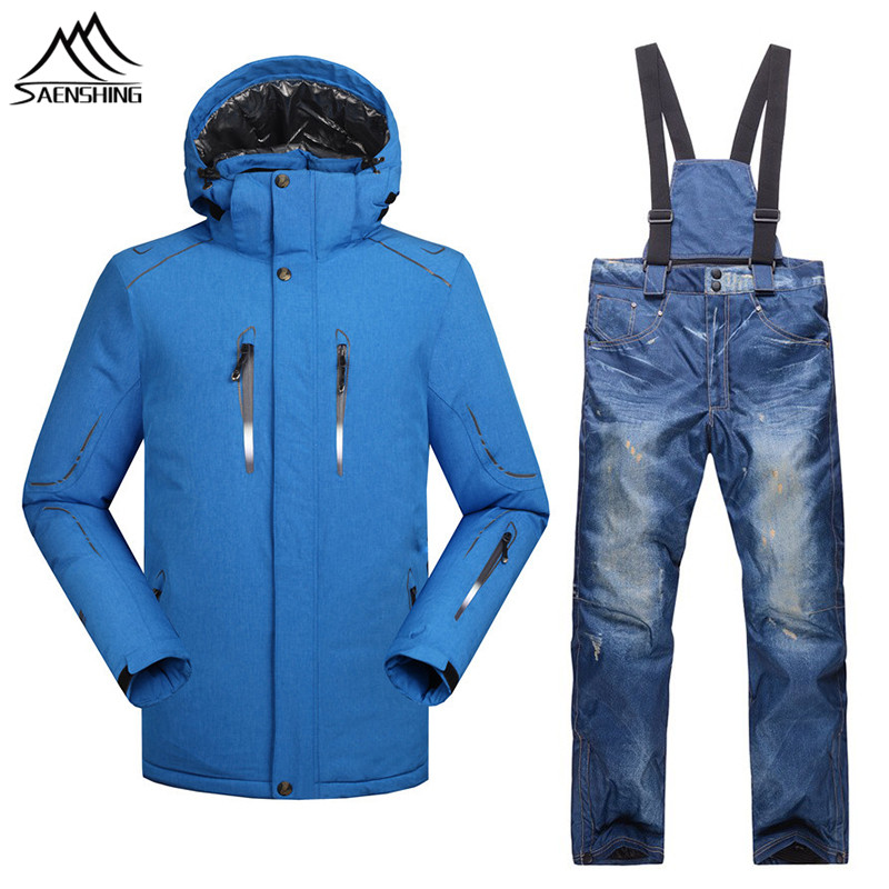 Hot Sale Men Winter Ski Suits Thermal Warmth Snowboarding Jacket Thicken Warm Ski Pants Waterproof Windproof Snow Sports Clothes