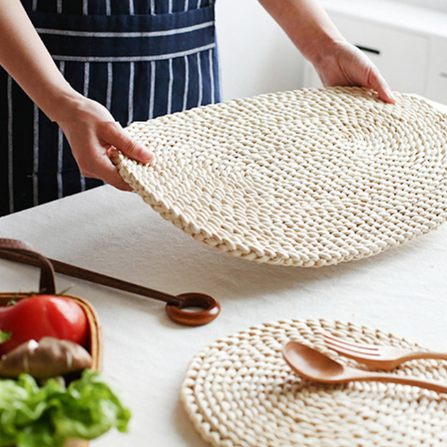 Round Rattan Table Placemat By Rebe Home
