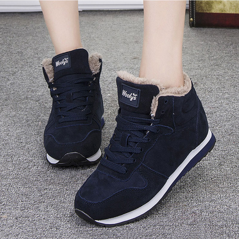Women Shoes 2019 Women Vulcanize Shoes Plus Size 46 Women Sneakers Plush Winter Shoes Female Casual Winter Sneakers Basket Femme