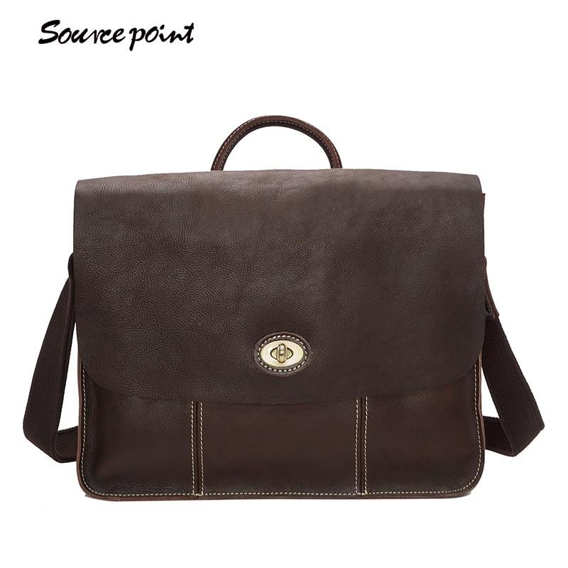 купить Hot Sale Leather Men Bags Crossbody Bags Vintage Men Messenger Bags Fashion Business Oil Wax Shoulder Bags Briefcase YD-8109 по цене 6690.27 рублей