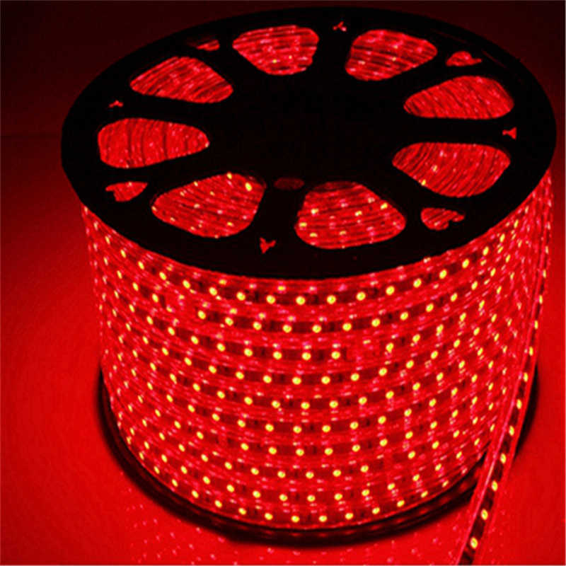 20 м/рулон 5050 60 светодио дный/m 110 В вход IP65 RGB мягкие полосы, Ультра-яркий цвет меняется светодио дный ленты свет для наружной с силиконовая трубка