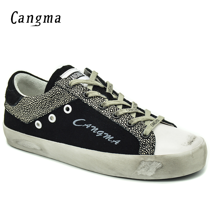 CANGMA  Sneakers Women Shoes Handmade Autumn Black White Low Top Cow Suede Flats Woman Casual Shoes Fille ChaussureCANGMA  Sneakers Women Shoes Handmade Autumn Black White Low Top Cow Suede Flats Woman Casual Shoes Fille Chaussure