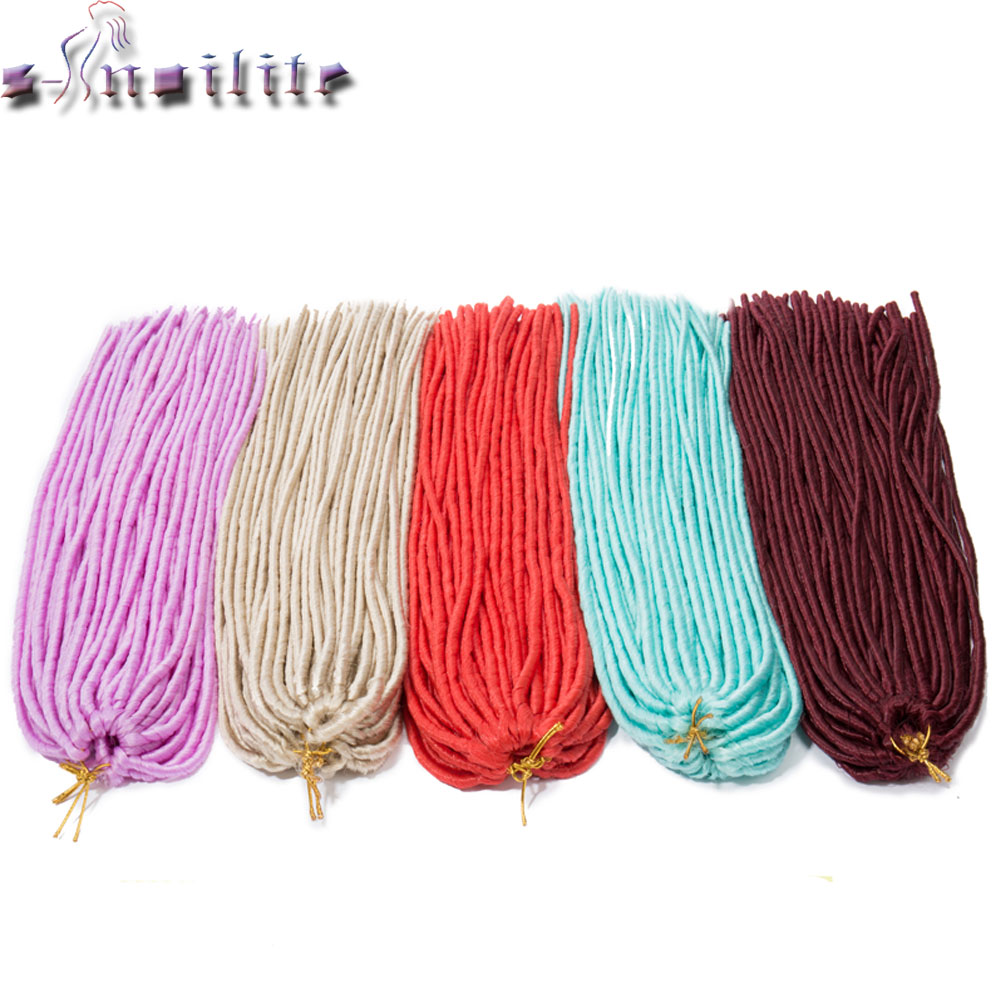 S noilite 3 Pack lot 330g 24 inches 20Strands pack Dreadlocks Crochet Braids Dread Hairstyle Synthetic