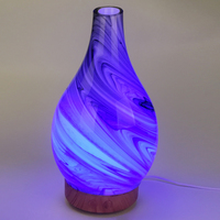 Glass Aromatherapy humidifier essential oil diffuser ultrasonic quiet 7 color light Home Office Living Room Spa Yoga 100ml