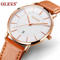 OLEVMens Watches Top Brand Luxury Men S Quartz Watch Waterproof Sport Military Watches Men Leather Relogio