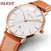 OLEVMens Watches Top Brand Luxury Men S Quartz Watch Waterproof Sport Military Watches Men Leather Relogio