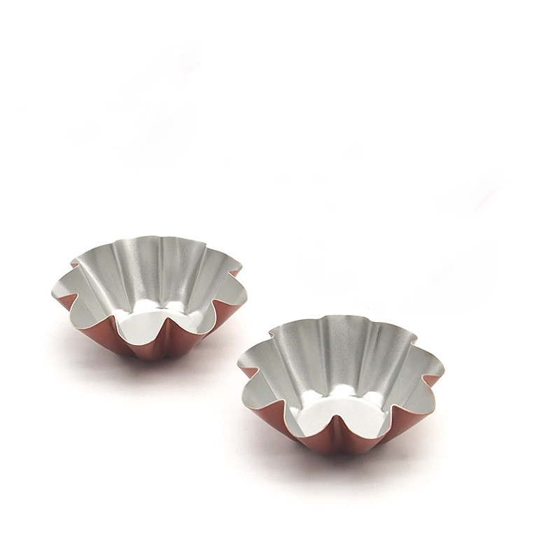 Non-Stick 3pcsset Reusable Tart Mold Chrysanthemum Cup Fruit Tarts Mold  Pie Pan Muffin Cake Mold Pan Quiche Pan Tart Tin 02