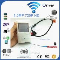 Camhi Pir Стиль HD 720 P наблюдения Беспроводной Wi-Fi P2P Onvif сети Пинхол ИК IP Камера видеонаблюдения с AP точка доступа Wi-Fi