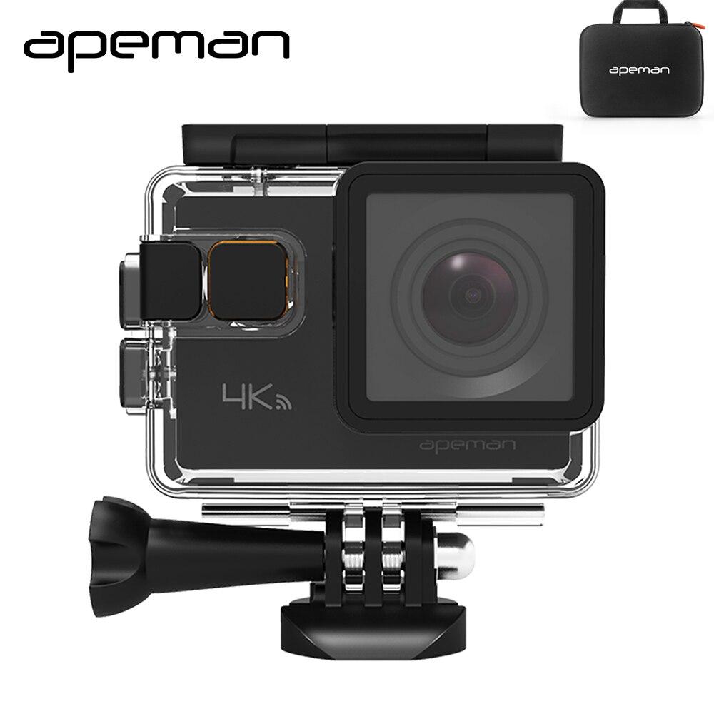 Apeman экшн Камера A80 4 К Wi-Fi экшен фотоаппарат hd подводная Спорт Видео Камера с 20mp видеокамера новым Камера случае один аккумулятор