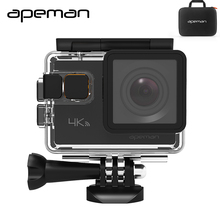 Apeman A80 4 K Wifi Action Camera Action Cam hd Wodoodporna Sport Kamera Wideo Z Kamery 20mp Nowy Futerał Na Aparat Jeden baterii
