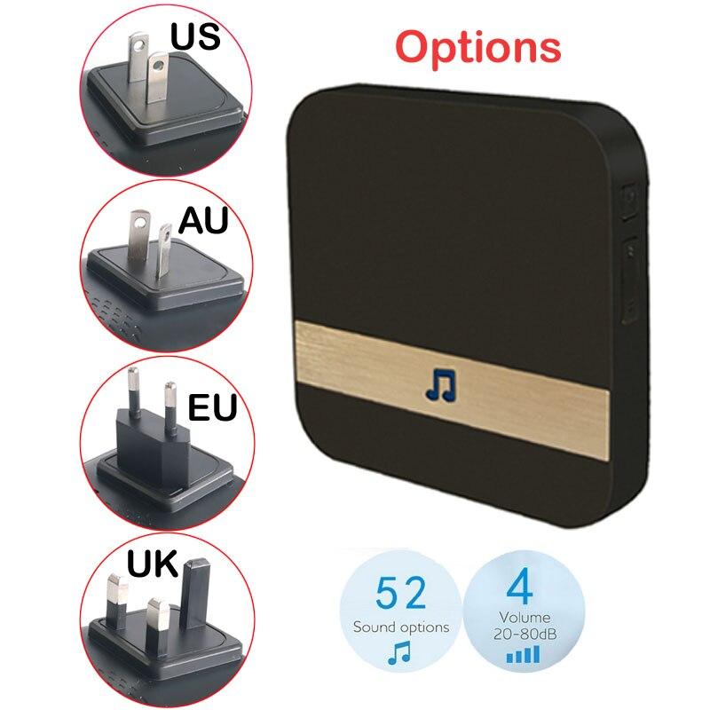 Anytek B30 WIFI sonnette B30 IP65 étanche Smart vidéo porte carillon 720 P interphone sans fil pour alarme IR vision nocturne caméra IP - 5