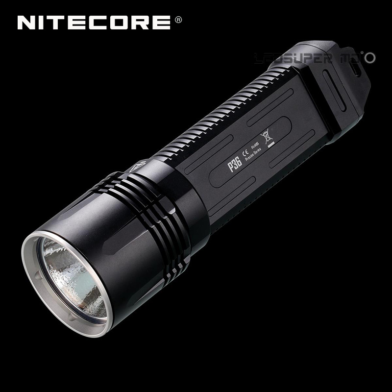 NITECORE P36 2000 Lumens Rechargeable LED Tactical Flashlight Torch Light new nitecore r25 tactical flashlight 800lm xp l hi v3 led torch unmatched performance smart charging dock rechargeable battery