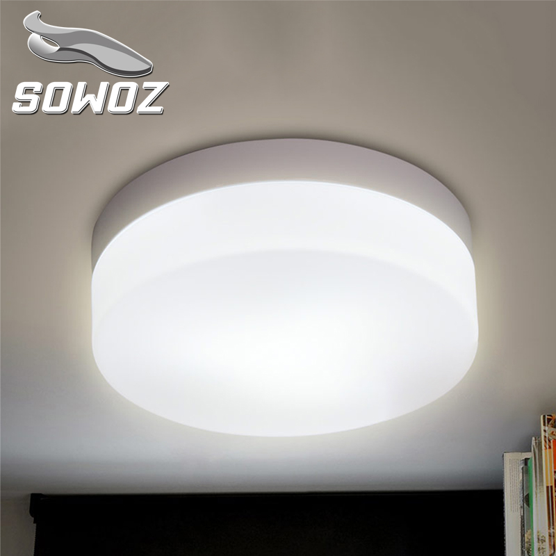 SOWOZ 10W 15W 20W 30W 40W Modern 220V LED Ceiling lights for Hallway bathroom round aluminum Acryl High brightness