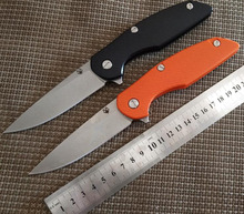 D2 blade G10 handle black and orange colors folding knife outdoor camping survival tool hunting Knife tactical EDC knives