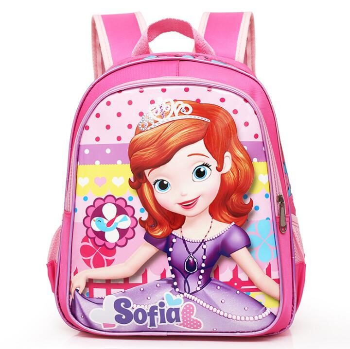 2018 New Backpack Child School Bag Cartoon Sofia Backpack Kid Kindergarten Schoolbag For Kid Mochila Infantil