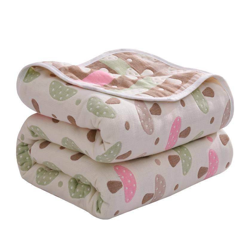 Baby Soft Warm Cover Blankets Autumn Children Bed Cover Quilt 6 Layers Muslin Cotton Gauze Dinosaur Children Blanket Bath Towel