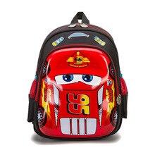 3D Racing car bag orthopedics school bags