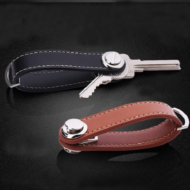 Gibo Auja - Brand New 2019 Äkta Läder Smart Key Holder Organizer Nyckelring Key Wallet Berömd Designer Creative Gift