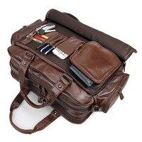 Genuine Leather Casual Big Men Leather Handbag S648 40 Vintage Messenger Shoulder Bags Briefcases Bags Laptop Bag