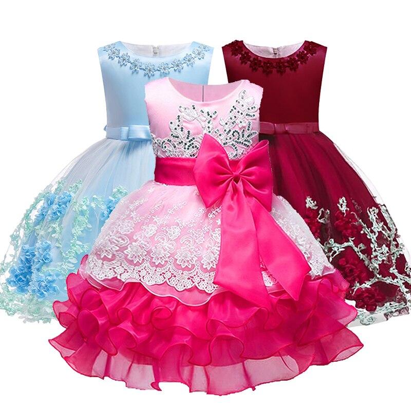 Bebé bordado Formal princesa vestido para niña elegante fiesta de ...