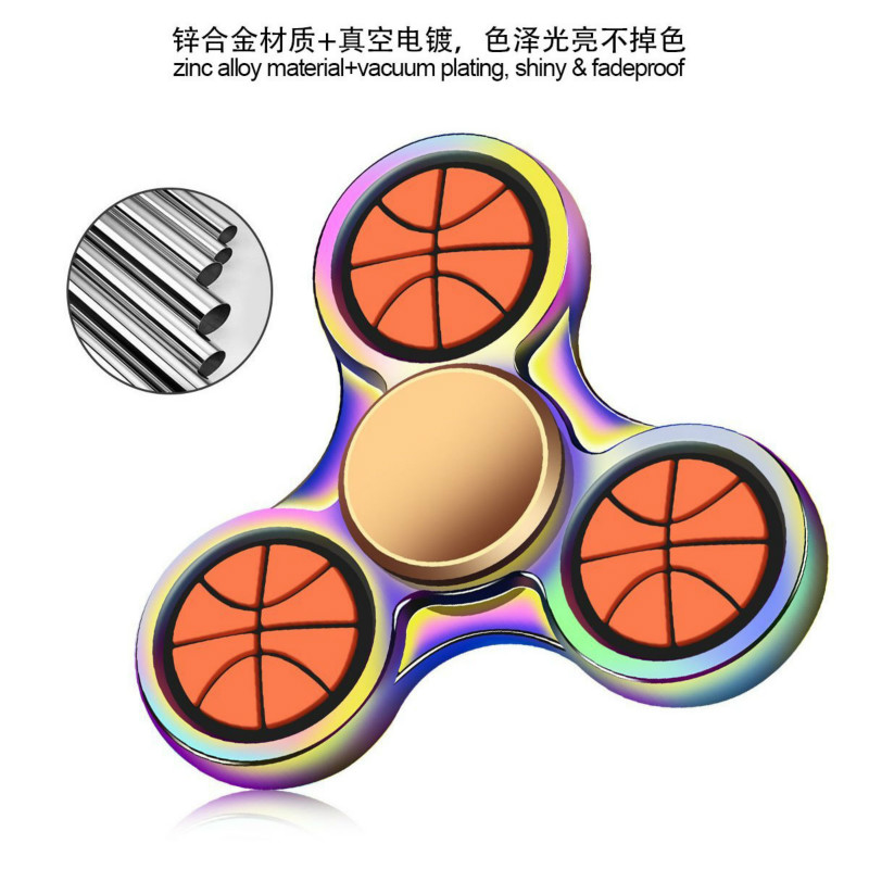 New Finger Tip Gyro Fidget Spiner Manufacturers Direct Football Basketball Metal Gyro Zinc Alloy Finger Gyro Mute Bearing