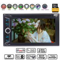 EinCar 6.2 Inch Touch Screen Bluetooth Car Stereo Receiver Double 2 Din Universal Car DVD Player Videos Auto Radio GPS Maps Navi