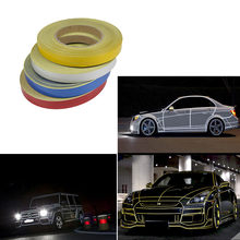 Auto Styling 1 cm * 45 m Night Magic Reflecterende Tape Automotive Body Motorfiets Decoratie voor opel toyota kia bmw ford Accessoires(China)