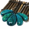 Alta calidad verde crisocola jasper piedra 5 piezas rama palo gota colgante de la nueva manera mujeres de la joyería 43-51mm B1896
