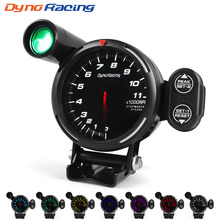 Dynoracing 80MM Tachometer RPM Gauge High Speed stepper motor 7 Colors 0-11000  Meter With Shift Light and Peak warning