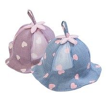 Lovely Baby Hat for Girls Heart Cotton Mesh Summer Girl Cap Spring Autumn Infant Accessories Kids
