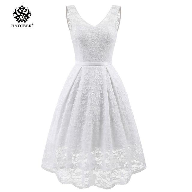 6e7c54050fdf summer dress Plus Size Lace Dress Women Party Dress Sleeveless Robes 2018  V-Neck Retro casual Ladies white Dresses Vestidos 2018