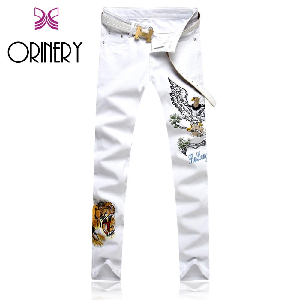 ORINERY 2018 New Fashion White Jeans Men High Quality Elastic Denim Jeans Men Hip Hop Em ...