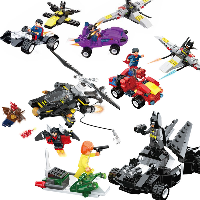Hot Movie Super Heroes Figures Set bat Spiderman Iron Man LEGOINGLYS Building Blocks Bricks Children Toys
