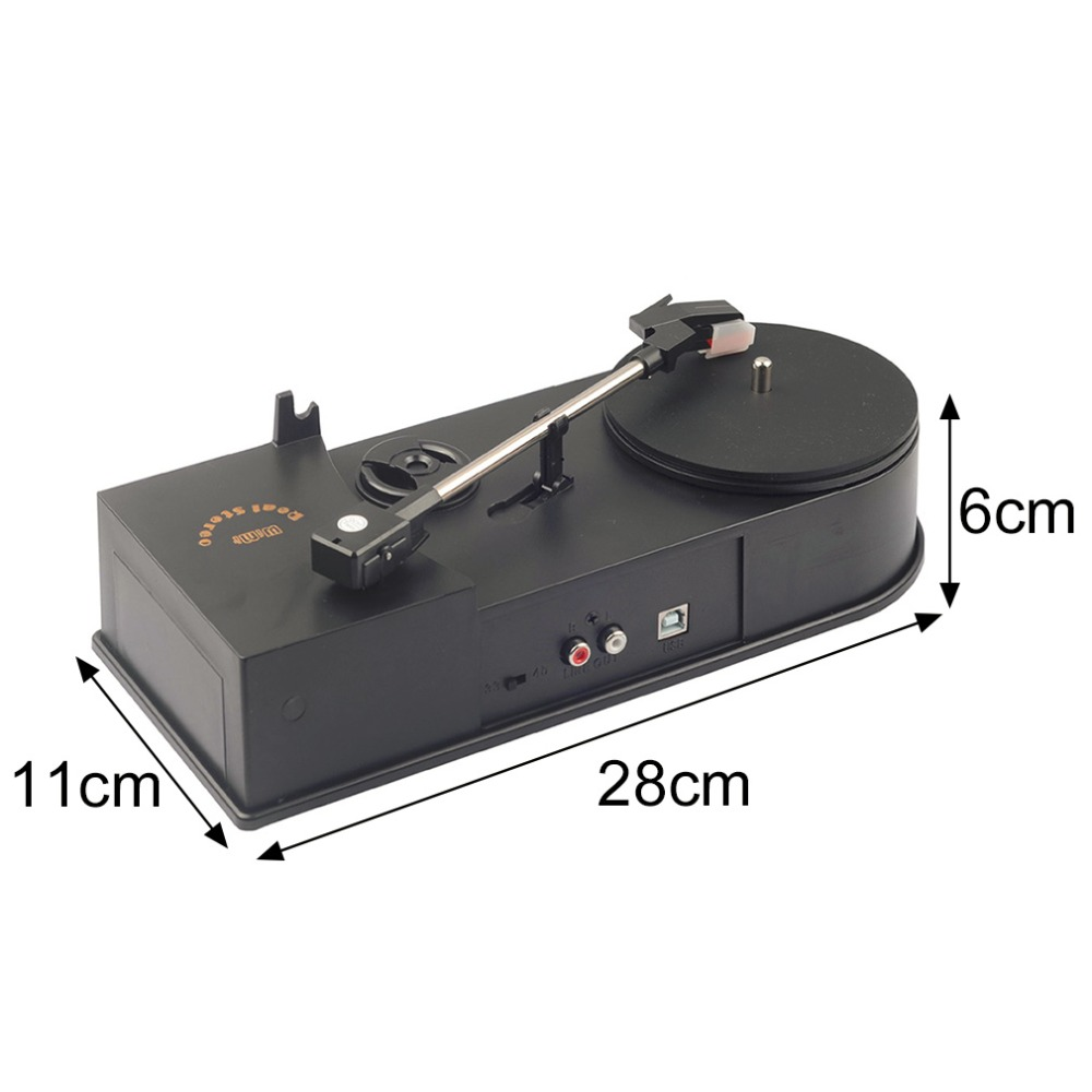 Multifunctional Usb Mini Phonograph Turntable Player Audio Support Convert Lp Record To Cd Mp3 In Dvd Vcd From Consumer