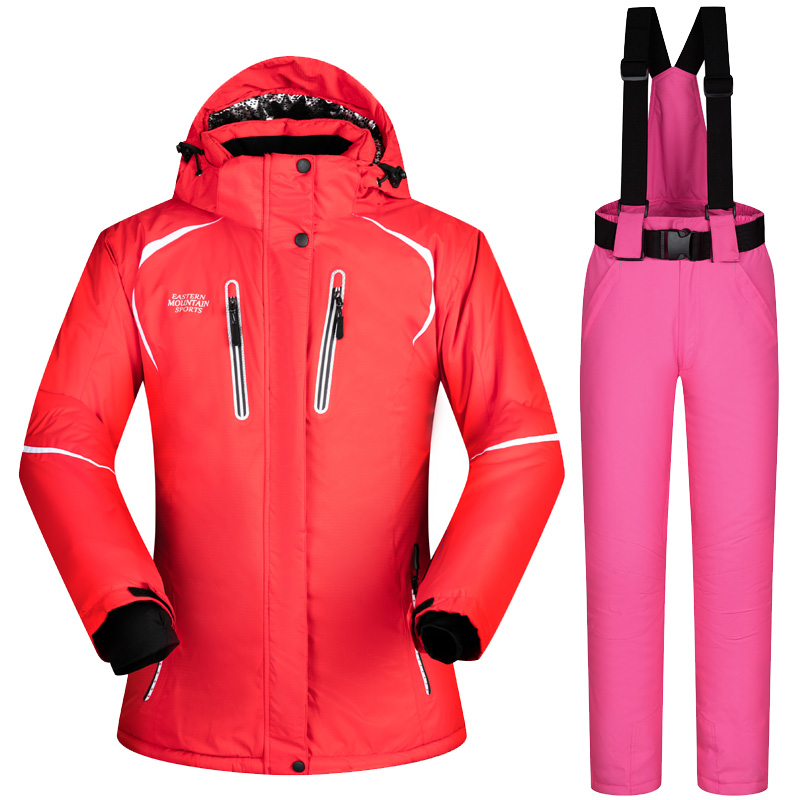 2018 Winter Ski Suit Women Waterproof Ski Jackets And Pants Snow Snowboard Jacket Women Skiing And Snowboarding Clothes Brands 2018 new lover men and women windproof waterproof thermal male snow pants sets skiing and snowboarding ski suit men jackets