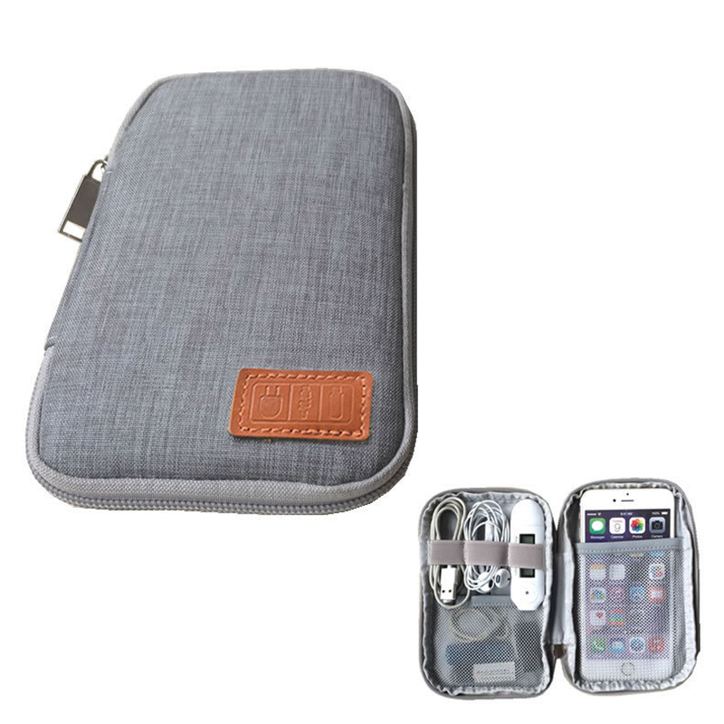 New Travel Small Bag Mobile Phone Case Digital Gadget Device USB Cable Data Cable Organizer Travel Inserted Bag Storage Bag