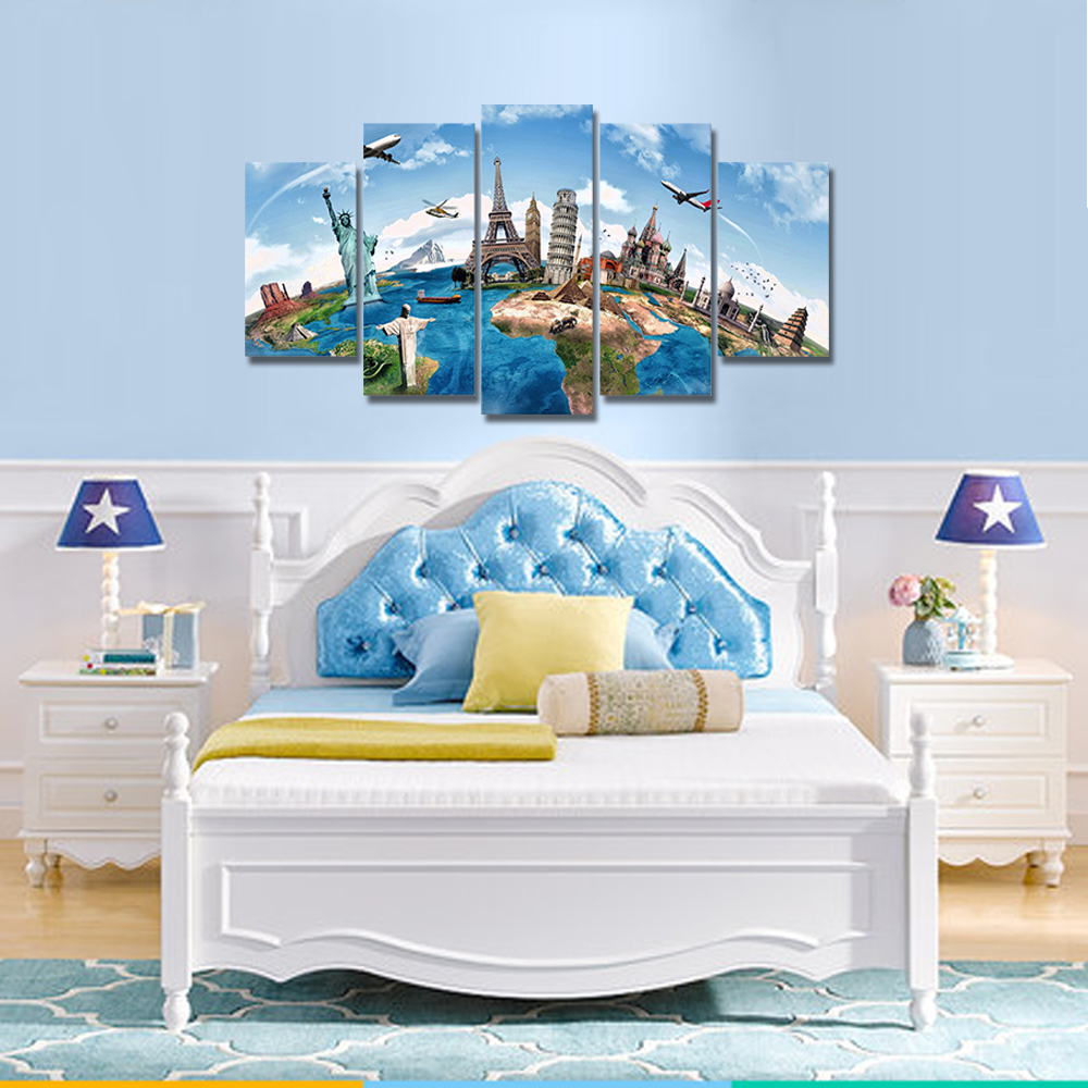 Unframed Canvas Painting World Famous Landscape Collection Photo Picture Prints Wall Picture For Living Room Wall Art Decoration