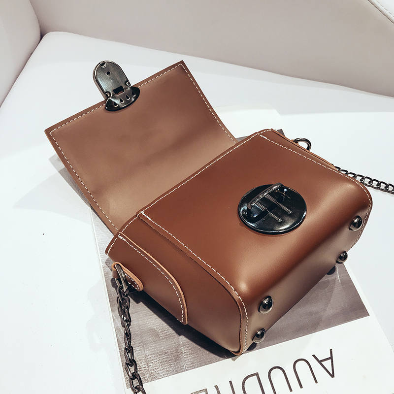 New Arrival Women leather Shoulder Bag Satchel Handbag Retro Messenger Bag Ladies Chain Strap Clutch Crossbody Bags