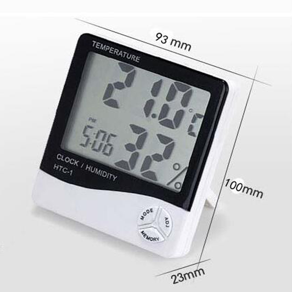 digital thermometer hygrometer Temperature humidity tester Moisture meter thermometer for car kitchen outdoor indoor Alarm clock